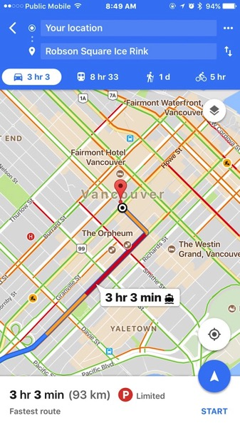 Google Maps For Ios Launches Parking Difficulty Feature In