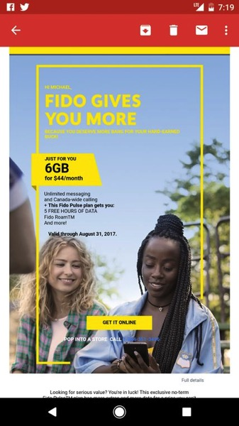 Fido pulse plan $44 6GB quebec