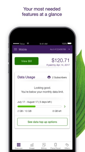 Telus my account