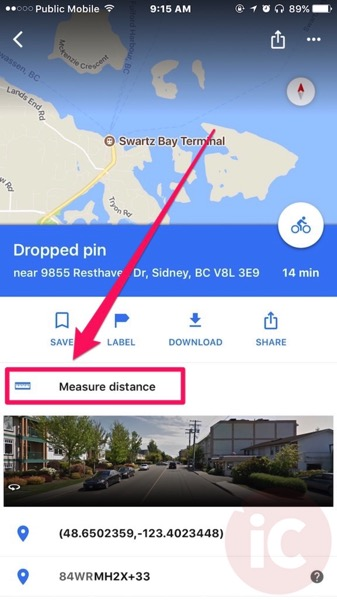 Google Maps for iOS Can Now Measure Distances For You