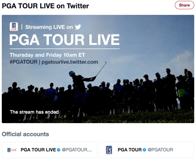 Pga Tour Live Twitter Coverage