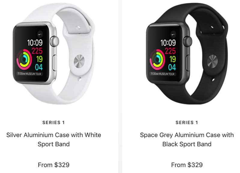 Apple Watch Series 1 Price Drop In Canada Now Starts At 329 Series 2 Axed Iphone In Canada Blog