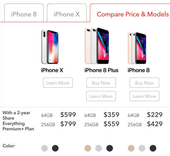 iphone x plus 256gb price