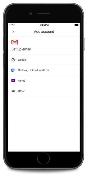 Gmail third party ios