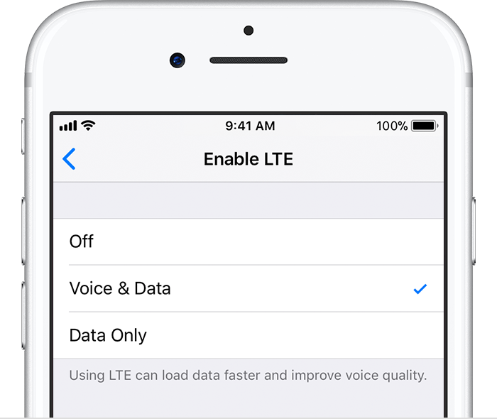 Iphone7 ios11 settings cellular cellular data options enable lte crop