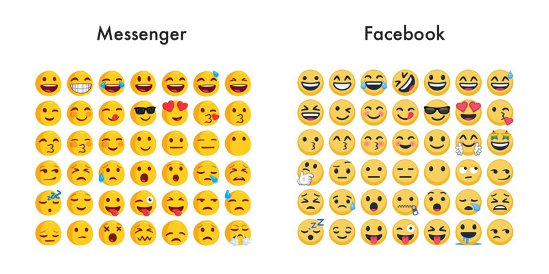 Messenger v facebook emojis emojipedia