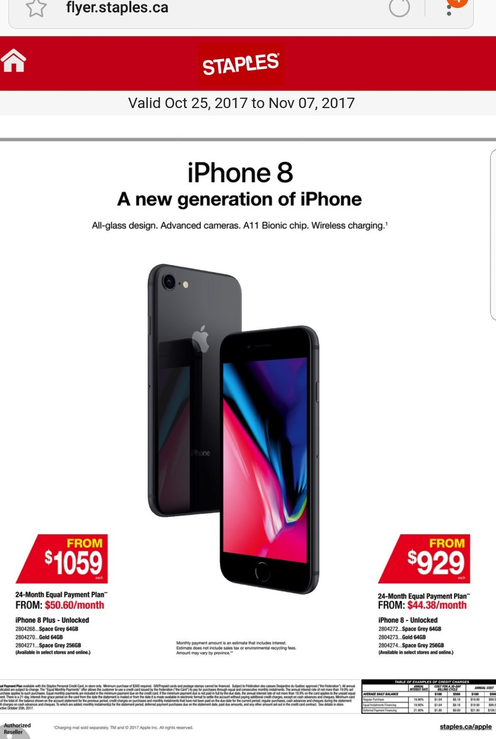 Staples iphone financing