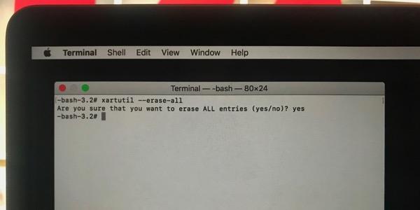 Touch bar terminal