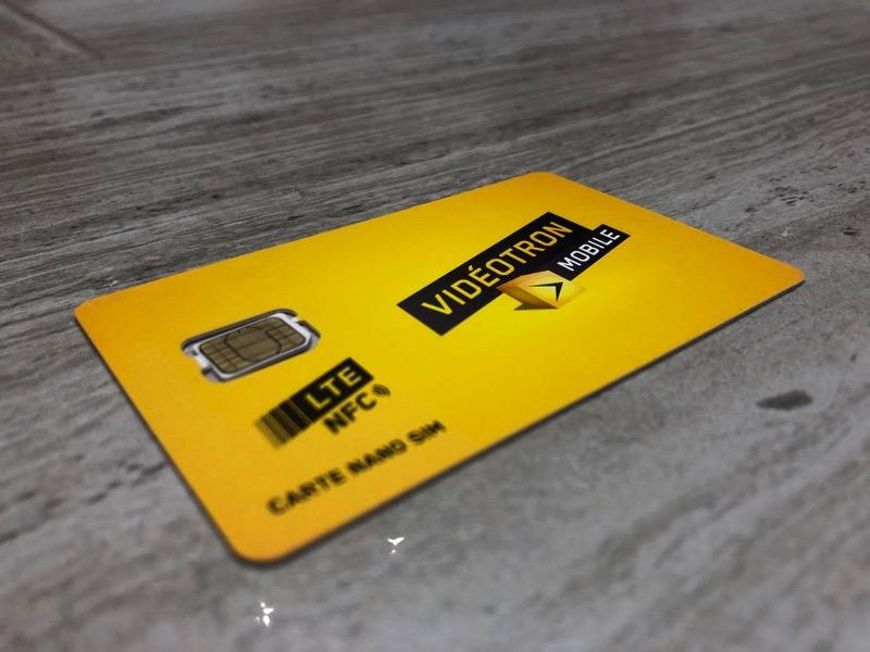 Videotron LTE sim card