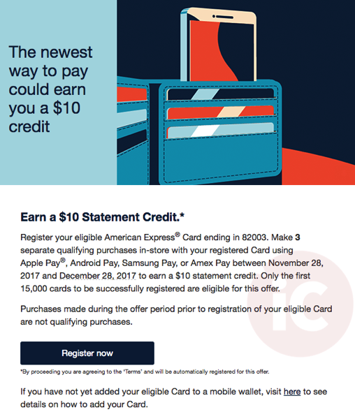 Amex apple pay promo