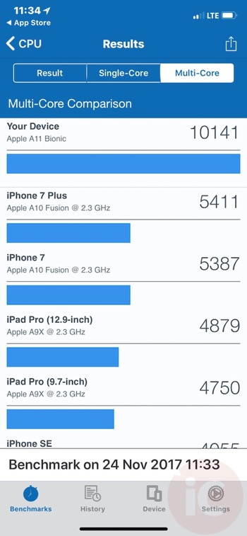 Iphone x geekbench