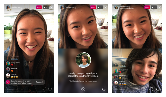 Instagram now lets you request to join a friend's livestream