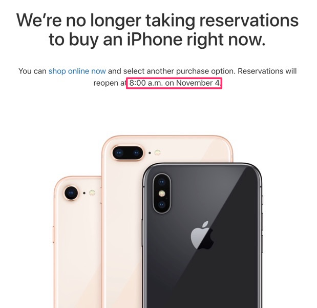 Reserve and pick up iphone x 2
