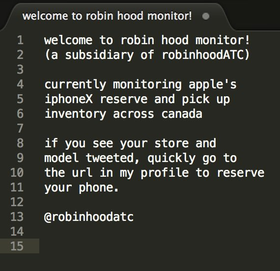 Robinhood monitor iphone x stock