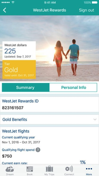 Westjet rewards