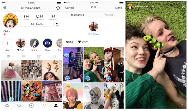 Instagram Launched Stories Highlights and Stories Archive