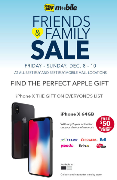 Best Buy Sale Iphone X Gets 50 Accessory Credit Iphone 7 Gets 100 Gift Card And More Iphone In Canada Blog