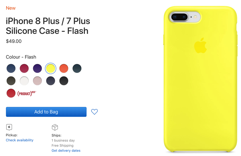 apple iphone 8 plus case yellow