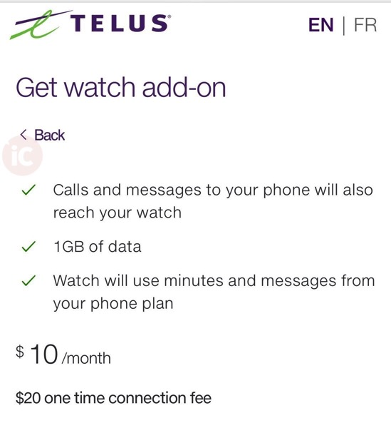 Telus apple watch