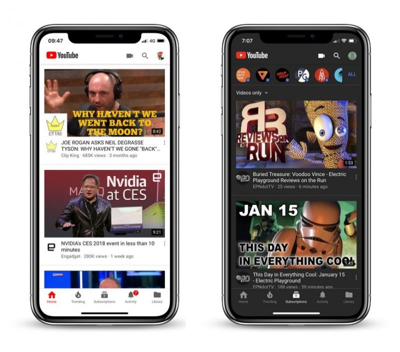 YouTube Currently Testing New 'Dark Theme' for Mobile iOS App