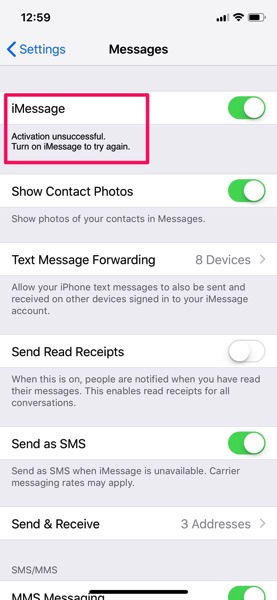 Freedom mobile iphone imessage problem
