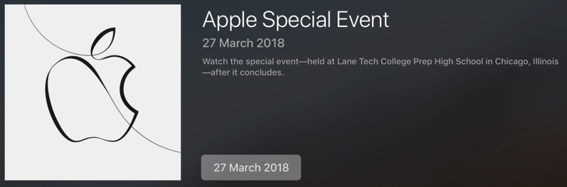Apple special event march 2018 live stream