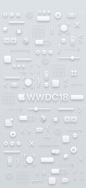 IPhone X light WWDC logo