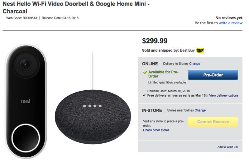 Hello Doorbell Subscription & Costco Members Nest Hello