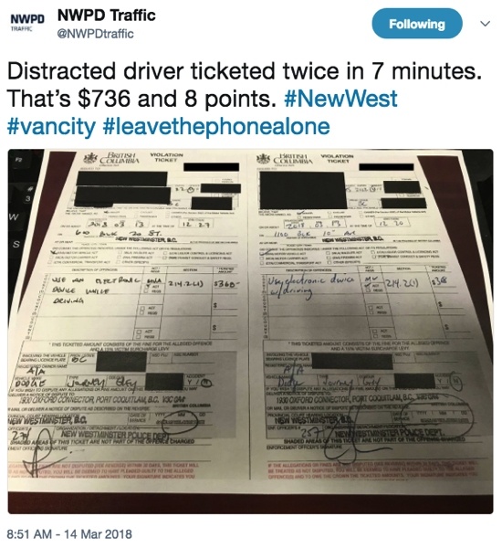 Nwpd traffic distracted driving