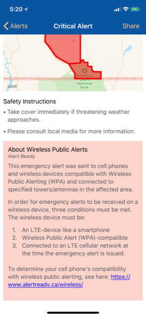 Alertable for iOS Sends Emergency Alerts, Linked to Canada's Alert