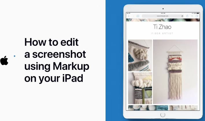 How to markup ipad