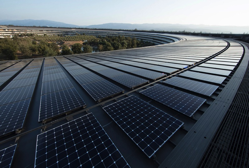 Renewable energy apple ap solar panels 040918