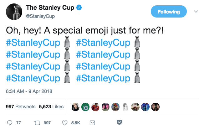 Stanley cup twitter