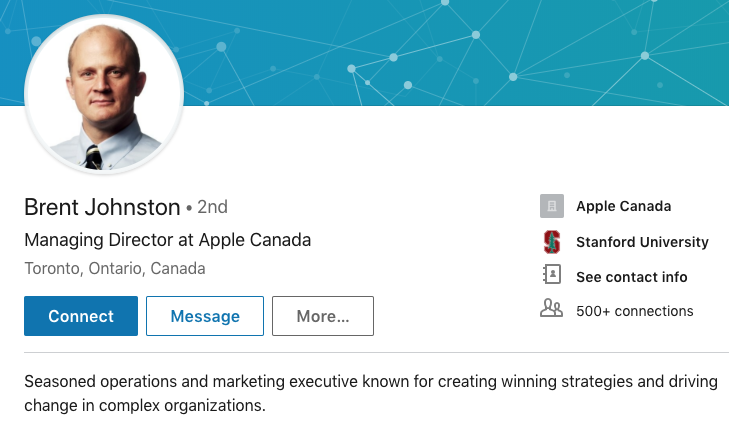 Brent johnston linkedin