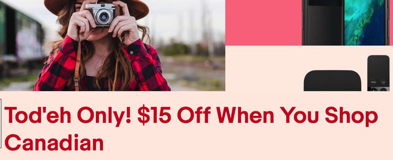 Ebay Canada Offers One Day Coupon Saving You 15 Off Purchases Of