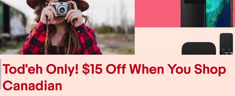 Ebay canada 15 off