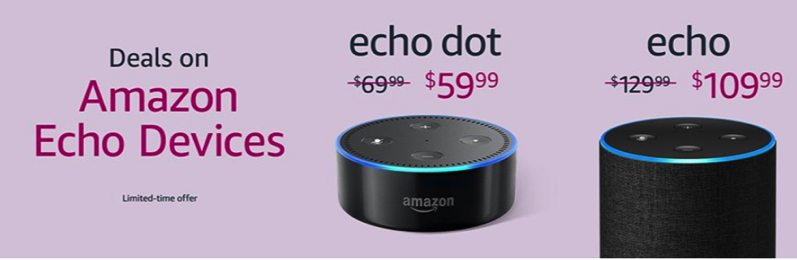 Echo devices on sale