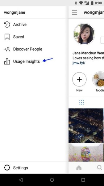 Instagram usage insights