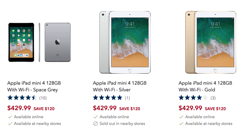 Best Buy Sale Offers 100 Off Apples Ipad Mini 4 Down To 42999