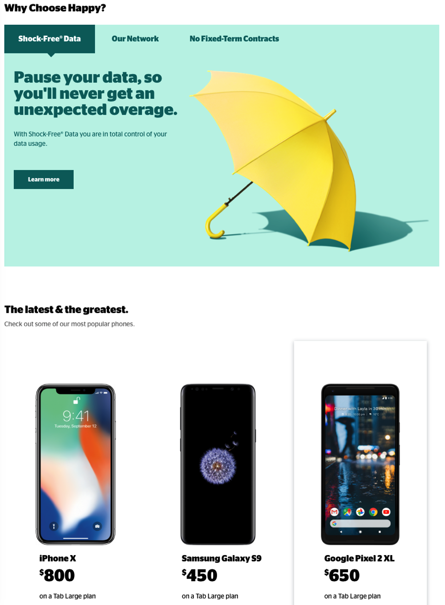 Koodo website redesign