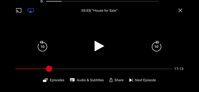 Netflix ios volume controls