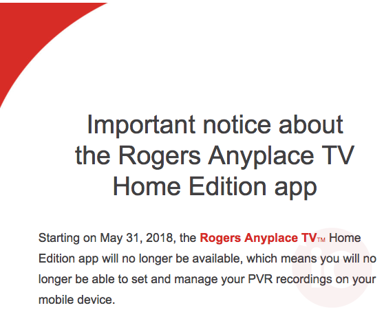 Rogers anyplace tv home edition ontario