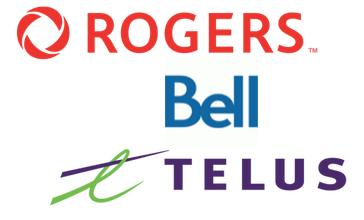 Rogers bell telus logo