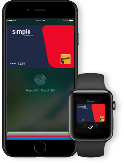 Simplii apple pay
