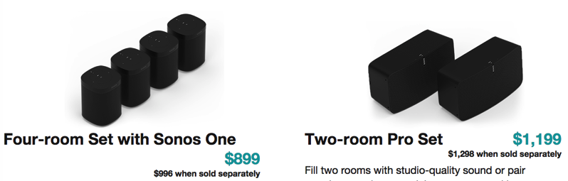 Sonos one sets play 5