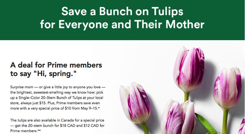 Whole foods amazon tulips