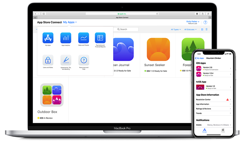 App store connect ios app