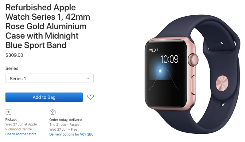 Apple watch series 1 refurbished