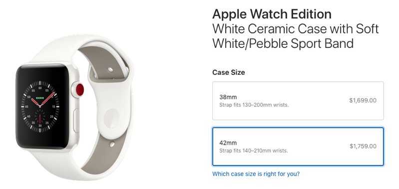 Apple watch series 3 ceramic