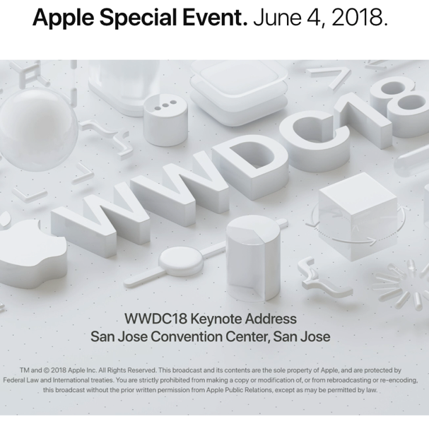 Apple wwdc june 4 special event